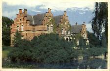 Fluglsang Insel Lolland alte Postkarte ~1950/60 großes altes Haus am See Bäume