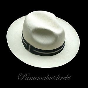 "Genuine Panama Hat from Montecristi ""Trévil"" - 15 weaves  Men Woman Straw Fedora"