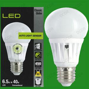6.5W LED GLS crépuscule jusqu'à l'aube ampoule de nuit de la lampe sécurité E27.