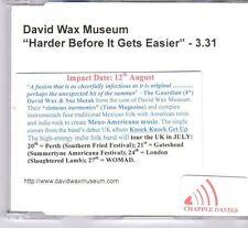 (DX720) David Wax Museum, Harder Before It Gets Easier - DJ CD