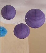 12x mix purple paper lanterns wedding party baby shower birthday home decoration