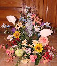 Keepsake Cremation Urn Holder Silk Arrangement Watercolor Garden Memorial Spray