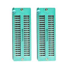 2pcs 40 pin 40P Universal ZIF IC Test Socket 2.54mm ZIP DIP tester board Socket