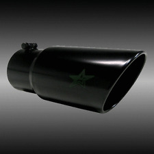 "5"" inlet 6"" outlet 18"" long Death Metal Rolled Angle Diesel Exhaust Tip"