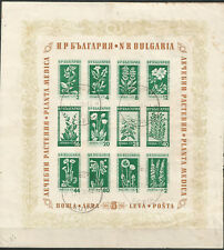 BULGARIA Scott# 843a Sheet block 1953 plants medicinal