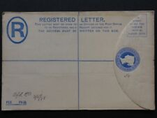 Queen Victoria 2d Blue REGISTERED ENVELOPE Embossed Pre Paid Postage