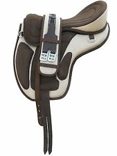 "All Purpose Freemax Synthetic Treeless Saddle cream/brown 18""+ Girth + Leathers"