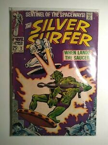 SILVER SURFER #2 When Lands the Saucer! Marvel Comic Book FN 6.0