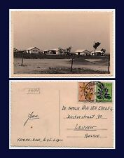 BENELUX BELGIAN AIR FORCE KAMINA CONGO BASE REAL PHOTO JULY 11 1953 TO LEUVEN