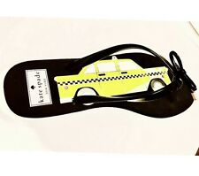 * Kate Spade * TAXI Sandals Flip Flops Shoes sz 9 M yellow black extremely rare