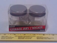 Tiny Mason Jars 2 Pk w/ Metal Lids - Collect Small Storage Container Arts/Crafts