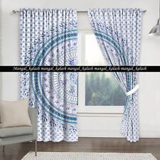 Indian Nature Mandala Curtain Cotton Tapestry Drapes Hanging Window Door Cover