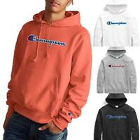 Champion Life Men's Reverse Weave Pullover Fleece Hoodie, Chenille Script Logo