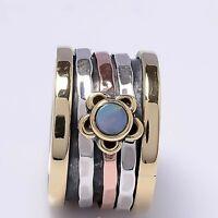 Ethiopian Opal Solid 925 Sterling Silver Spinner Ring Meditation Ring S V1002