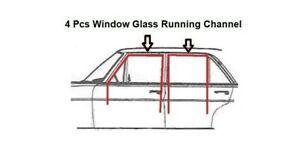Mercedes Benz W123 Rubber Door Window Running Channel Gasket Seals 4 Pcs