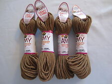 Lot of 4 rolls 2mm Cinnamon Amy Braided Nylon Macrame Craft Jewelry Cord 100yds