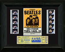 The Beatles at Shea Stadium filmcell with concert ticket.