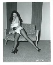 BETTIE PAGE PIN-UP ORIGINAL PHOTO FROM VINTAGE IRVING KLAW NEGATIVE #BP270