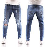 JACK & JONES Liam Original skinny fit Herren Jeans Hose AM 661 blau neu