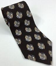 Monterey Bay Classic Collection Men's Neck Tie Black Silk Geometric 57 x 3.75