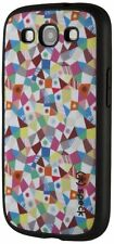 For Samsung Galaxy S3 Pink Blue Green Speck Fabric Shell GeoMazing Case Cover