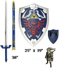 Legend of Zelda Twilight Princess Link's Master sword and shield set Real Steel