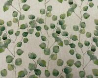 Eucalyptus Tree Leaf Linen Cotton Fabric Curtain Cushion Upholstery Craft Blind