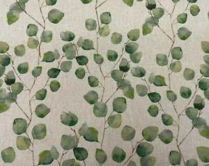 Eucalyptus Tree Leaf Linen Cotton Fabric Curtain Cushion Upholstery Craft Blind