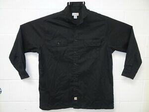Carhartt Men's Twill Long Sleeve Work Shirt Button Front S224 2XL Black NWOT