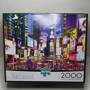 """Buffalo Puzzles New York City """"TIMES SQUARE """" 2000 Piece Jigsaw Puzzle New"""