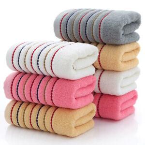 New Striped Cotton Towel Set Bath Towel Bathroom Face Shower Towels 3pcs