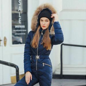 Winter Outdoor Sport Romper Womens Warm Ski Suit Waterproof Jumpsuit Snow Suit
