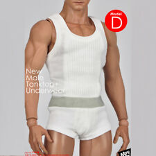 MCTOYS 1/6 Scale F-058 Male Tanktop+Underwear Suit A Black/C Gray/D White Magic