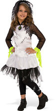 Girls Monster Bride Costume Frankenstein Spooky Cute Gothic Size Small 4-6