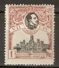 1920 CONGRESO DE LA UPU EDIFIL 307* NUMERACION MUESTRA A,000,000