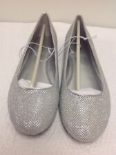 Worthington Fifi Metallic Ballet Flats Silver Size 8.5W NIB