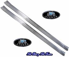 "Chevy Sill Scuff Plates - Right & Left Side / 2 Pieces with GM ""body by Fisher"""