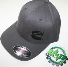 Cummins hat ball cap fitted flex fit  flexfit stretch ram gray denim lg/xl