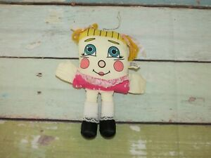 "RARE Vintage 8"" PILLOW PEOPLE Sweet Dreams Pink Blond Girl Stuffed Toy 1985"