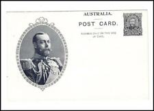 Australia CORONATION ISSUE PICTORIAL POSTAL CARD-HG:4-BLACK-KING GEORGE V-UNUSED