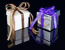 25m x 10mm nastro Personalizzato Matrimonio Favore Box invito BATTESIMO