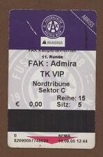 Orig.Ticket    Bundesliga  Österreich 05/06    AUSTRIA WIEN - ADMIRA MÖDLING  !!
