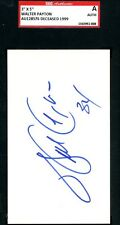 WALTER PAYTON SIGNED SGC CERTIFIED 3X5 INDEX AUTHENTICATED AUTOGRAPH