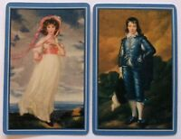 Pair of Vintage Swap/Playing Cards - BLUE BOY & PINK GIRL