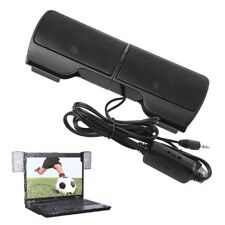 1 Pair Mini USB Stereo Clip-On Speaker Powered Line Control For Notebook Laptop