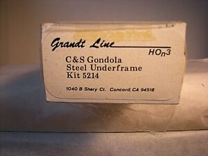 HOn3 Grandt Line C&S Steel Underframe Gondola Car Kit