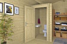 28mm Toilettenraum WC-Raum Gartenhaus Holz Holzhaus Blockhaus Schuppen Hütte