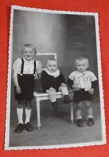 Vintage Photo Portrait d'enfants bébé costume mode années 20-30