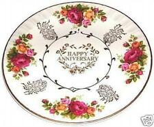 PLATE DISH ENGLAND AVON HAPPY ANNIVERSARY WOOD & SON