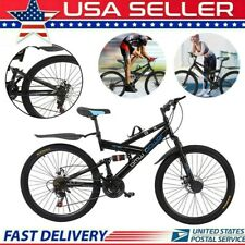 26 in Mountain Bike Shimanos21 Speed Bicycle Full Suspension MTB Lightweight New